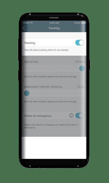 SMART24 screen - live tracking